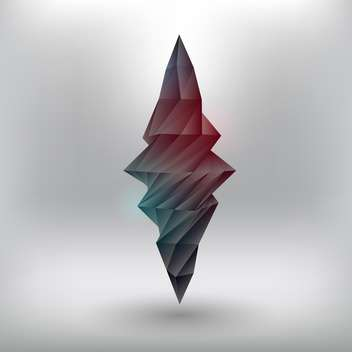 Vector illustration of geometric abstract element on grey background - vector #126407 gratis