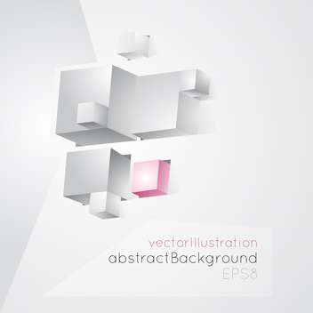 Vector illustration of abstract geometric white background made of ubes - Free vector #126427