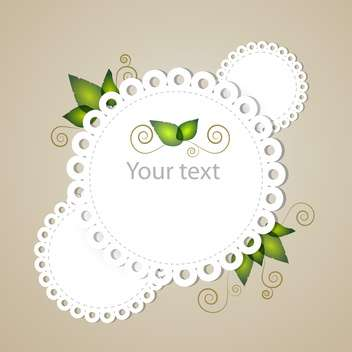 vector illustration of floral frame with text place - vector #126557 gratis