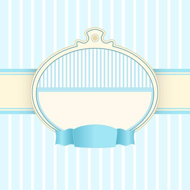 Vector vintage blue background with text frame - vector gratuit #126707