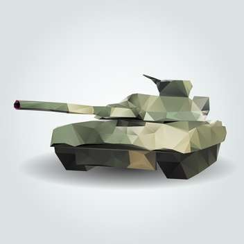 Vector illustration of abstract army tank on grey background - vector gratuit #126737