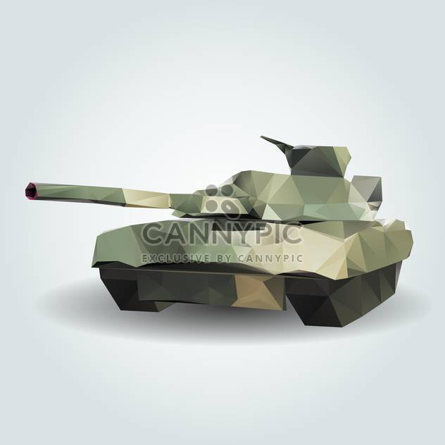 Vector illustration of abstract army tank on grey background - Free vector #126737