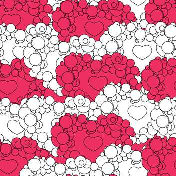 Valentine's day background with hearts - vector gratuit #126777