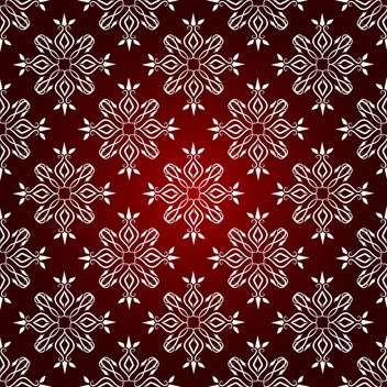 Vector vintage background with floral pattern on red background - бесплатный vector #126837