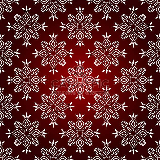 Vector vintage background with floral pattern on red background - Free vector #126837