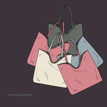 Vector illustration of colorful female bags - vector gratuit #126867