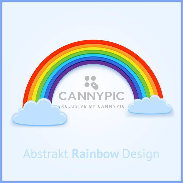 Vector background with colorful bright rainbow - Free vector #126907