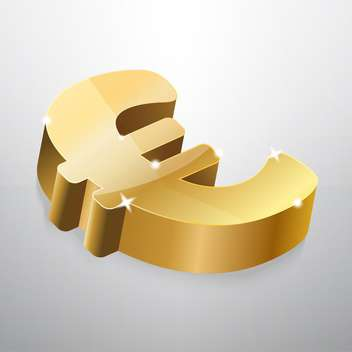 Golden euro sign on grey background - vector gratuit #126917