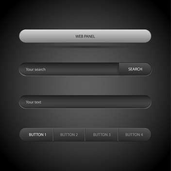 Vector illustration of web panel on grey background - Free vector #126927