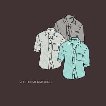 Vector illustration of male shirts on dark background - Free vector #126937