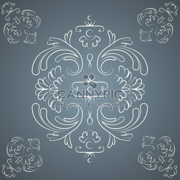 Vector vintage dark background with floral pattern and text place - Free vector #126957