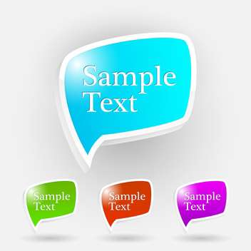 Vector set of shiny speech bubbles on white background with text place - vector #126967 gratis