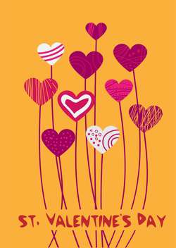 Vector background with hearts for Valentine's day - vector gratuit #126987