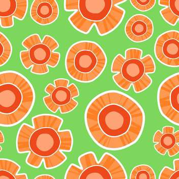 Vector colorful background with orange flowers - vector gratuit #127037