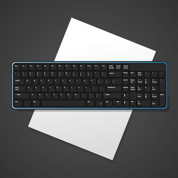 Vector black background with computer keyboard - vector gratuit #127147