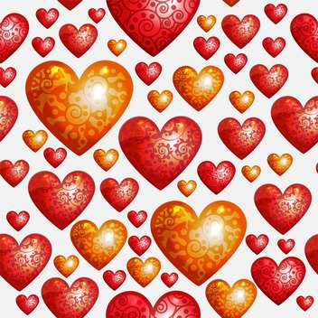 Valentines Day background with love hearts - vector gratuit #127157