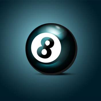 Billiards eight ball on blue background - Kostenloses vector #127167