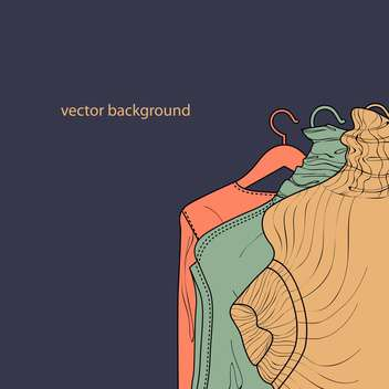 Vector illustration of collection of female sweaters - vector gratuit #127177