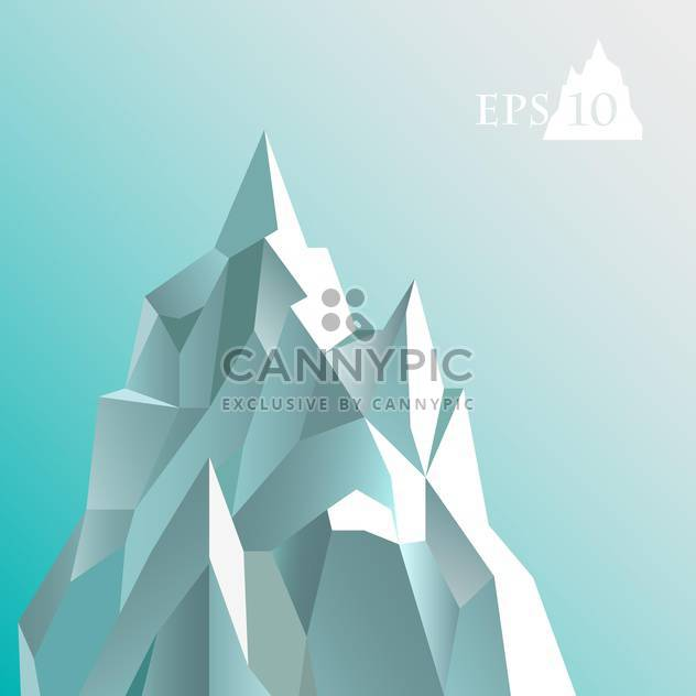 Vector illustration of abstract iceberg on blue background - Free vector #127257