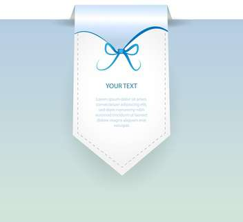 Vector blue banner with bow and text place - бесплатный vector #127317