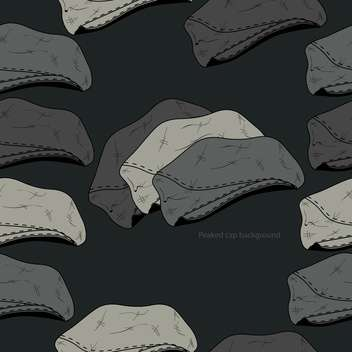 Vector background with vintage male hats - vector #127357 gratis