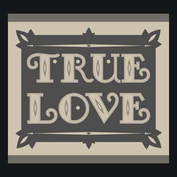 true love text on black background - vector #127417 gratis