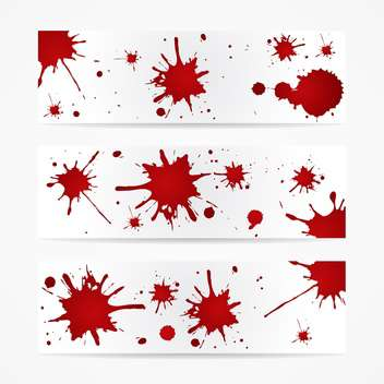 Colorful bright ink splashes on white background - Free vector #127447