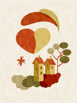 holiday background of houses on Valentines Day - vector #127507 gratis