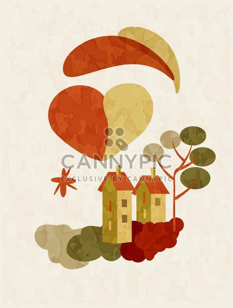 holiday background of houses on Valentines Day - Kostenloses vector #127507