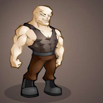 muscular handsome man on dark background - Free vector #127577