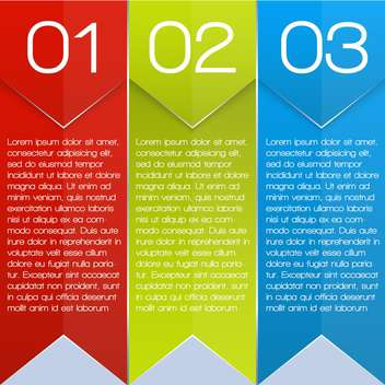 colorful three options banners - vector gratuit #127637