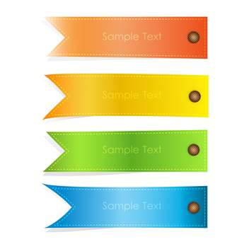 vector set of colorful banners on white background with text place - Kostenloses vector #127717