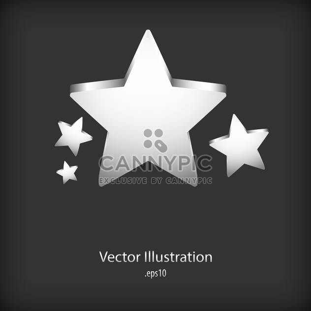 Silver speech stars bubbles on black background - Free vector #127767