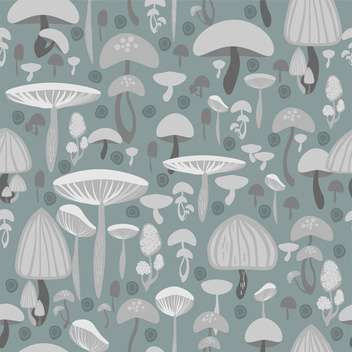 Mushrooms seamless pattern vector background - vector gratuit #127797
