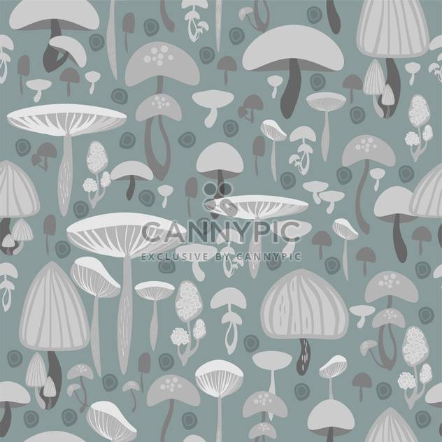 Mushrooms seamless pattern vector background - Free vector #127797