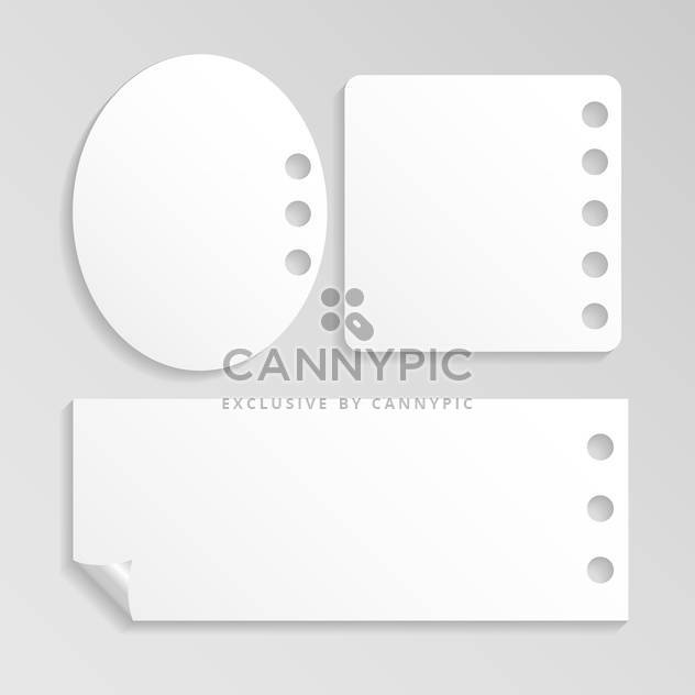 vector set of white note papers - Free vector #127857
