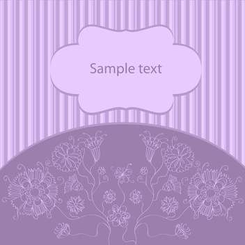 Spring floral purple background with text place - vector gratuit #127867