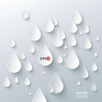 rain drops on white background - vector gratuit #127887
