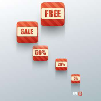 shopping sale buttons on grey background - vector #127967 gratis