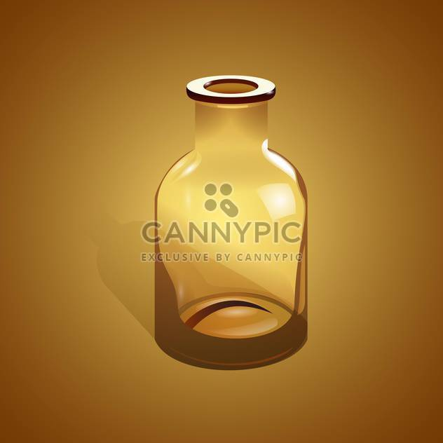 Empty glass bottle on brown background - Free vector #127997