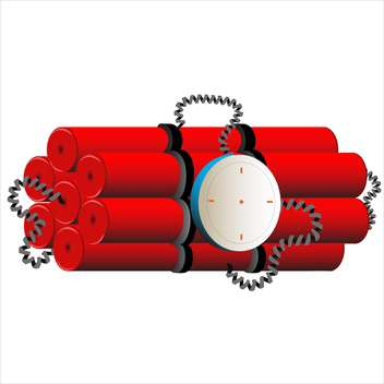 red dynamite on white background - vector #128007 gratis