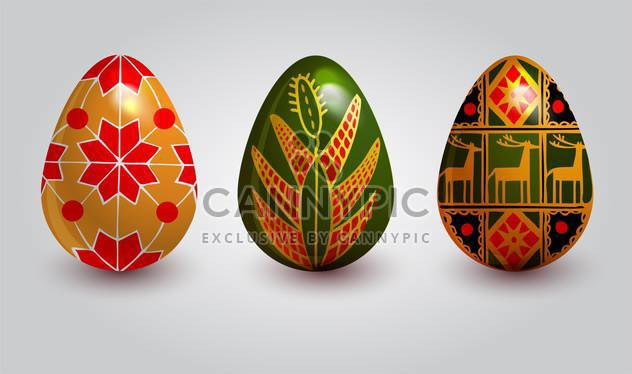 holiday background with easter eggs - Free vector #128057