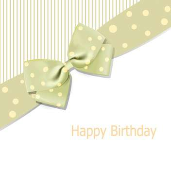 Vector birthday background with bow and text place - vector #128087 gratis