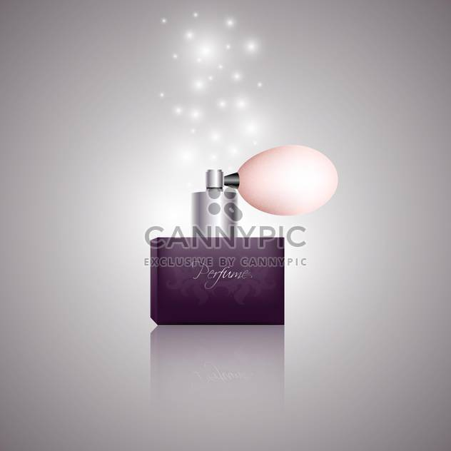 Vector bottle of women perfume on grey background - Free vector #128157