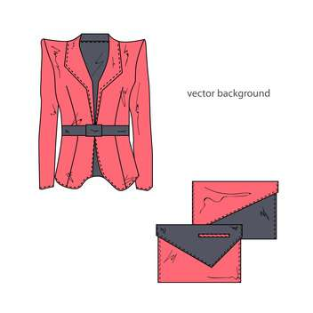 Jacket with bags vector illustration. - vector gratuit #128167
