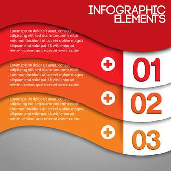Orange background with numbers and space for text - vector #128177 gratis