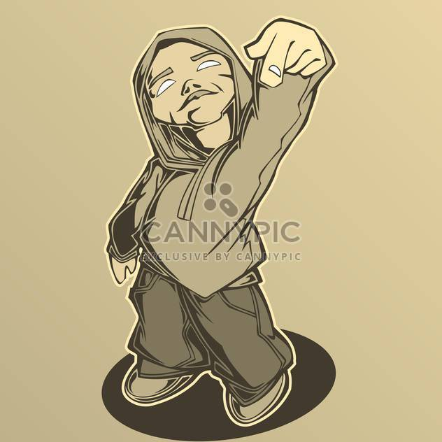 Hip hop man, vector illustration. - Free vector #128207