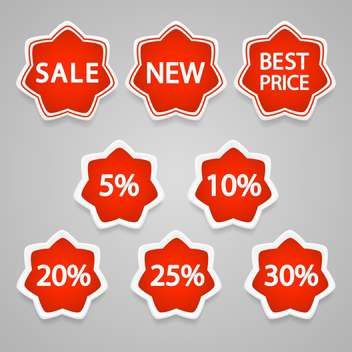 Set with vector sale stickers and labels icons - vector #128217 gratis