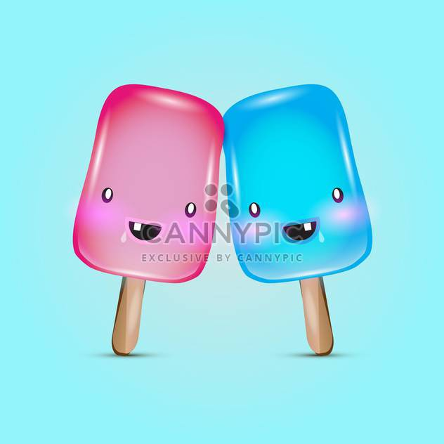 colorful popsicle ice-cream, vector icons - Free vector #128247