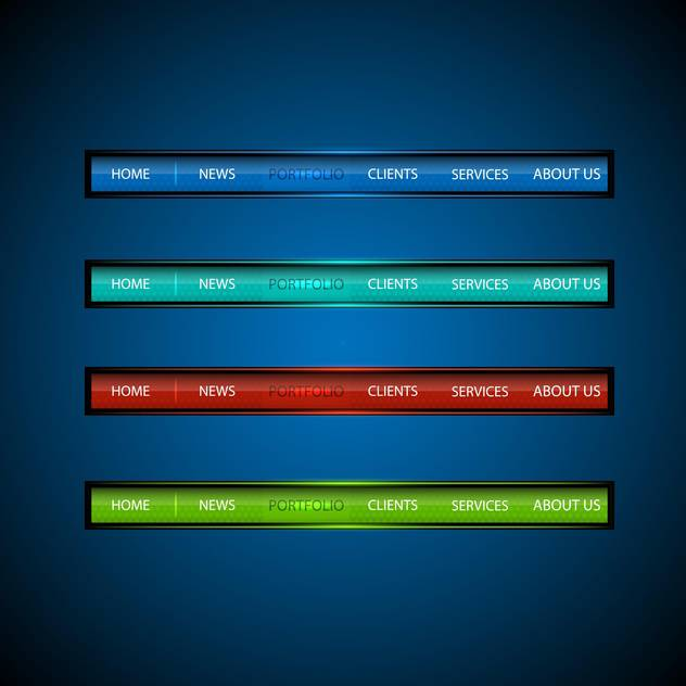 Set with multicolored website design buttons - бесплатный vector #128257